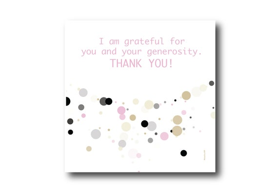 Digital Thank You Greeting card wishes, instant download, printable at home, ready to post, Pantone Colors, Pantone Colors