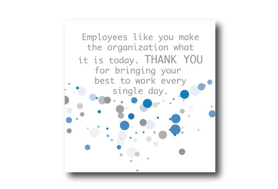 Digital Employee Appreciation card wishes, instant download, Social Media Image, Pantone Colors Ultimate Gray and Ibiza Blue colors