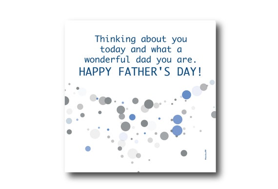 Digital Father's day wishes card, Pantone Colors