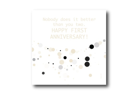 Digital First Wedding Anniversary Card wishes, Pantone Colors