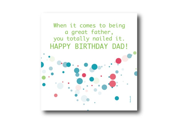 Digital Father Birthday Wishes greeting card, Pantone Colors