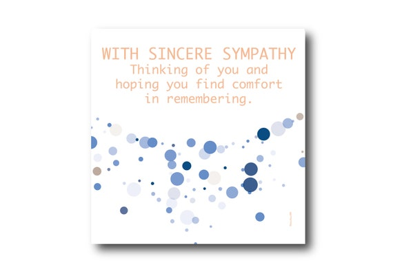 Digital Sympathy card wishes, instant download, printable at home, ready to post, Pantone Colors, Pantone Colors