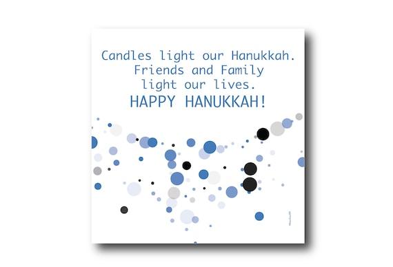Digital Greeting Card for HANUKKAH Wishes, Pantone Colors, Jewish holidays