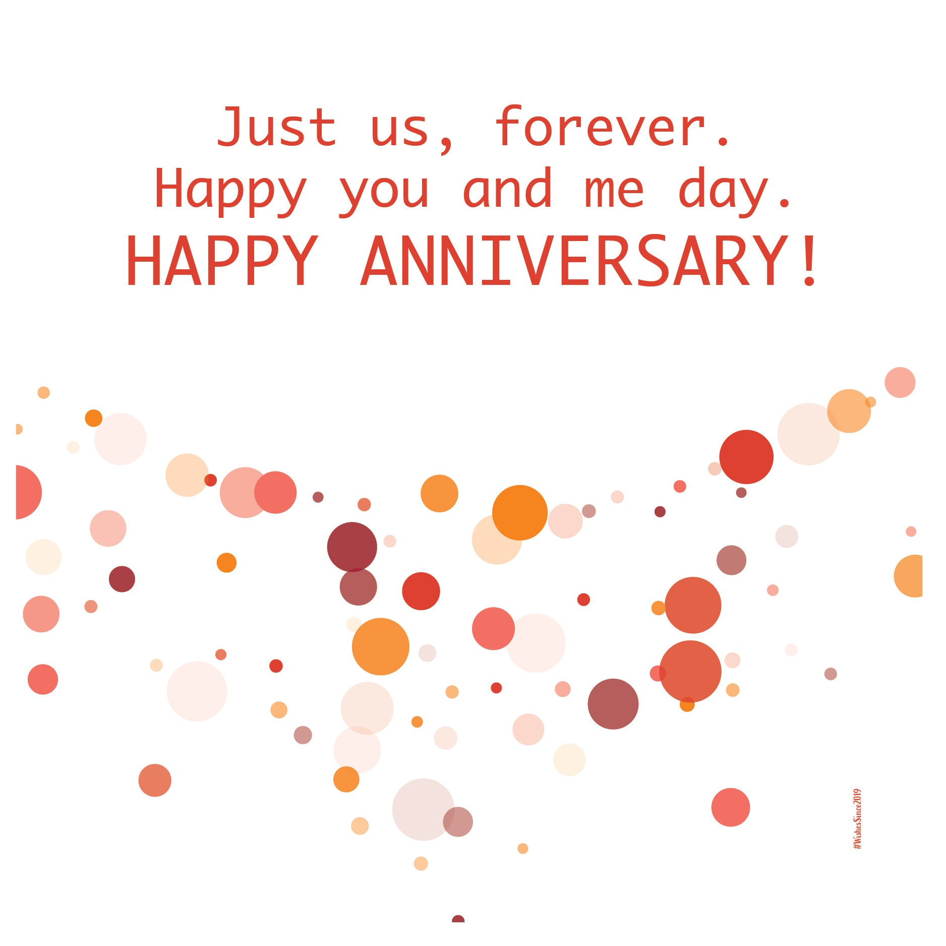 digital wedding anniversary card wishes instant download