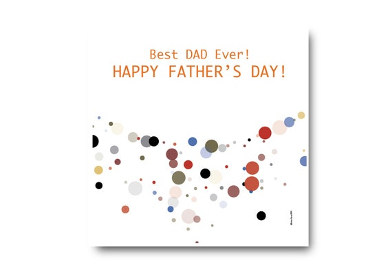 Digital Father's Day Card, Pantone colors, Father's day wishes