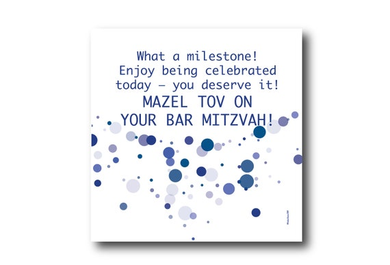 Digital Mazel Tov card wishes, instant download, printable at home, ready to post, Pantone Colors
