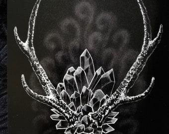 Crystal art print | Etsy