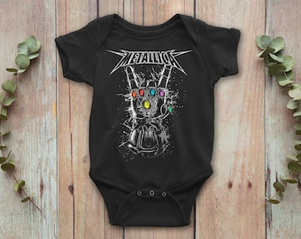 b1e5e45e4 Metallica Hard Rock Baby Bodysuit, Funny Baby Onepiece, Baby Gift, Baby  Outfit, Baby Clothes, Fathers Day, Mothers Day, Newborn Outfit