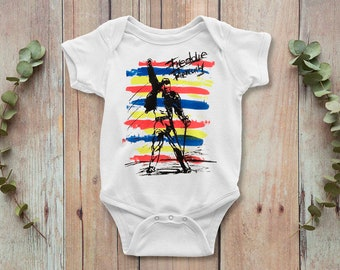 0bba781ea Queen Freddie Mercury Rock Baby Bodysuit, Freddie Funny Baby Onepiece, Baby  Gift, Baby Outfit, Baby Clothes, Fathers Day, Newborn Outfit