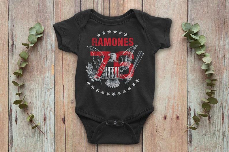 Ramones Rock Baby Onepiece Funny Baby Bodysuit Baby Gift image 0