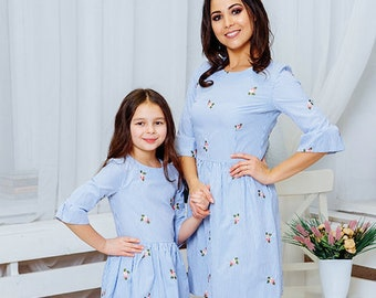 83976a2704dc Lagoon | matching mommy and me dresses, matching mother and daughter dress,  mom and me, matching outfit, family look, matching set
