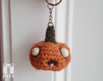 Crochet Pumpkin Plush Keyring
