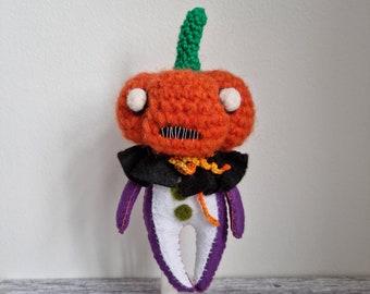Pumpkin Pal Fibre Beast Spooky Plushie - orange and purple
