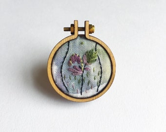Feminist Embroidered Brooch