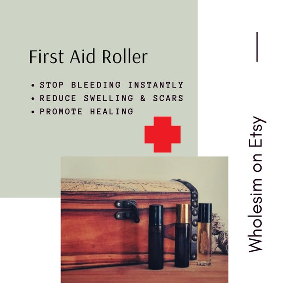 First Aid Essential Oil Roller For Cuts Scrapes And Scars Etsy