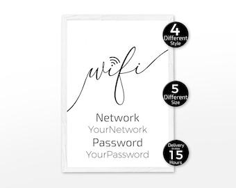 f00553d8474a1 Wifi password print | Etsy
