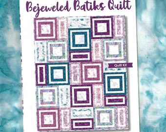 "Bejeweled Batiks Quilt Kit by Maywood Studio, New, 48"" x 60""!"