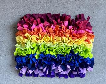 Rainbow pre made large snuffle mat