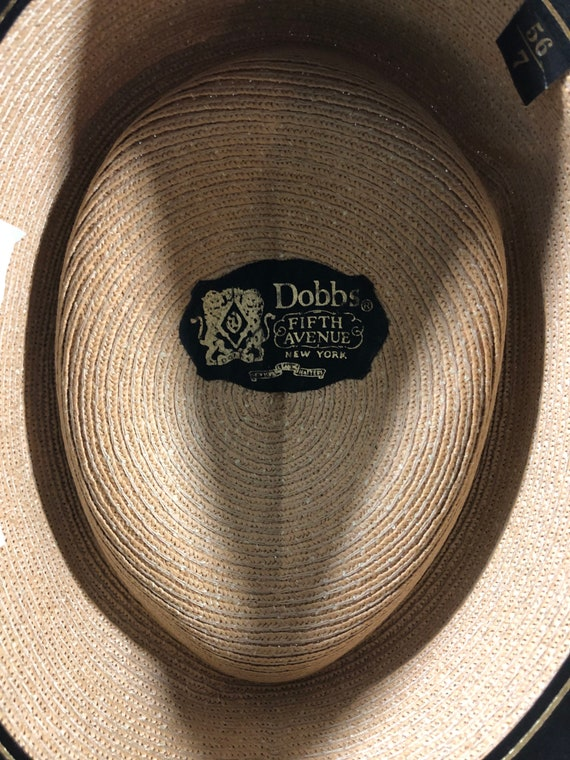 Vintage Dobb Straw Pork Pie hat - image 3
