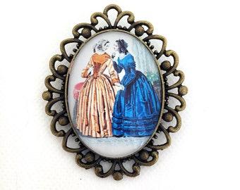 Le Follett Stripe, Vintage Fashion,  Historical Plate, Mademoiselles