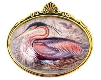 Waterbird brooches