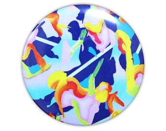 abstract painting badge