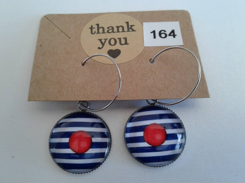 18x25mm Brass and stainless steel earring of any shape with 12mm 20mm cabochon