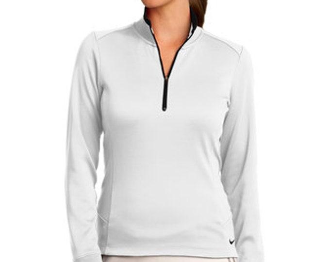 Nike Ladies Dri-FIT 1/2-Zip Cover-Up  Brand Logo