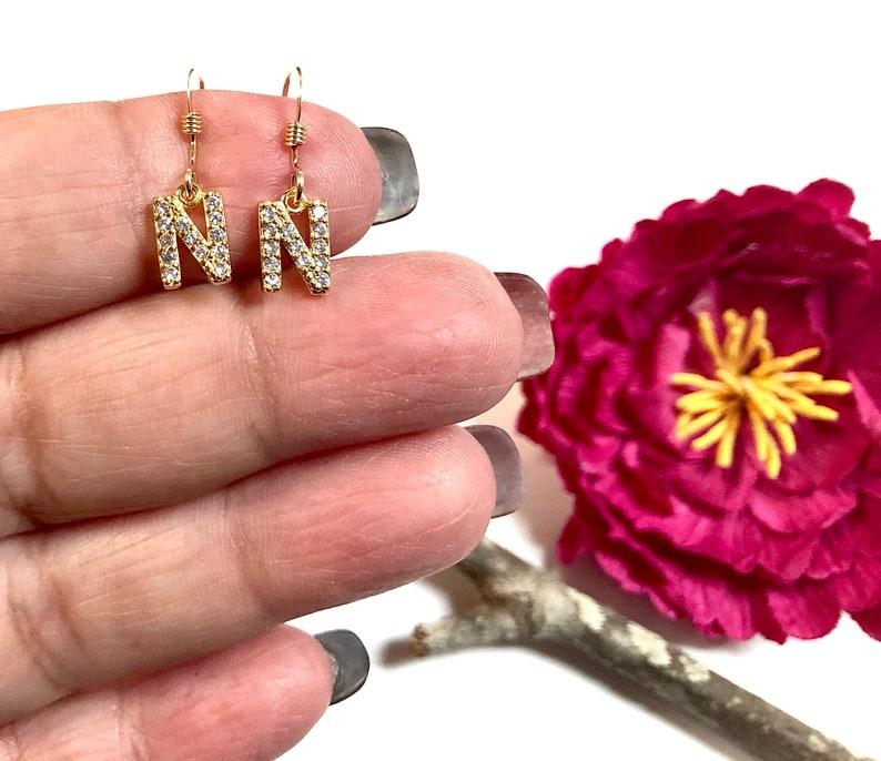 Initial Necklace Minimalist Necklace Tiny Gold Initial N Necklace Letter N Necklace,Letter Necklace Personalized Jewelry,Initial Jewelry
