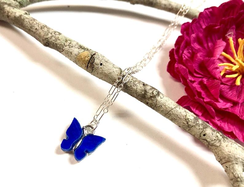 Minimalist Necklace Dainty Butterfly Necklace,Silver Butterfly Necklace Silver Layering Necklace Summer Jewelry Minimalist Jewelry