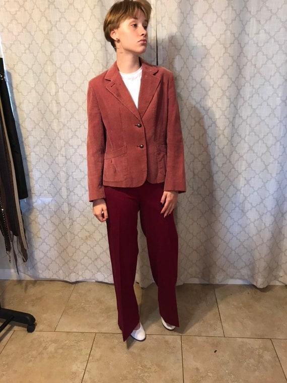 Pink corduroy suit jacket