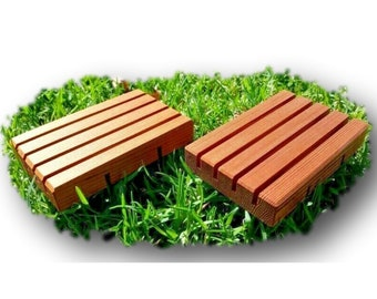 Eco-friendly Wooden Soap Deck Handcrafted in AUS from Cedar timber shorts - Quality Soap Holders in Various Lengths