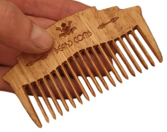 Wooden Beard Combs & Mustache Combs | Sustainable Australian timber with Coconut Oil finish