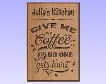 Sustainable Wooden Plaque Fridge Magnet Kitchen Gift Idea Personalised