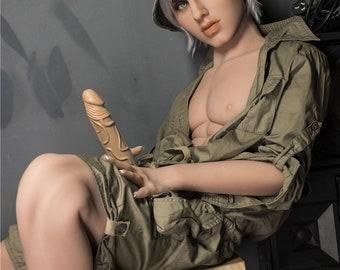 realistische Gay Sex Doll jongen eerste blowjob