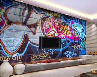 3D Graffiti Wall Letter A1039 Removable Wallpaper Self Adhesive Wallpaper Extra Large Peel /& Stick Wallpaper Wallpaper Mural AJ WALLPAPERSS