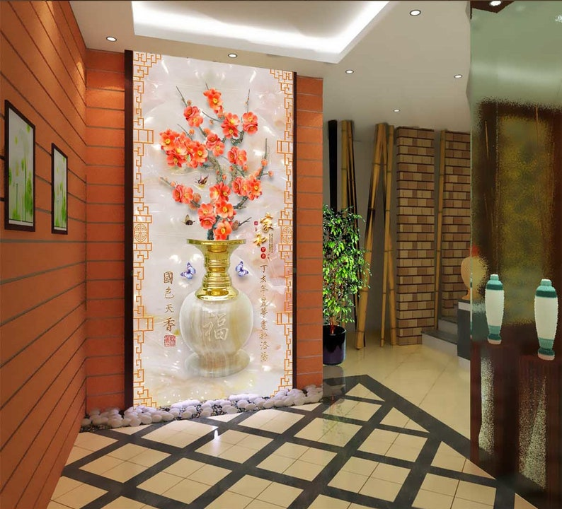 3D Vase Extravagant A221 Removable Wallpaper Self Adhesive Wallpaper Extra Large Peel /& Stick Wallpaper Wallpaper Mural AJ WALLPAPERS