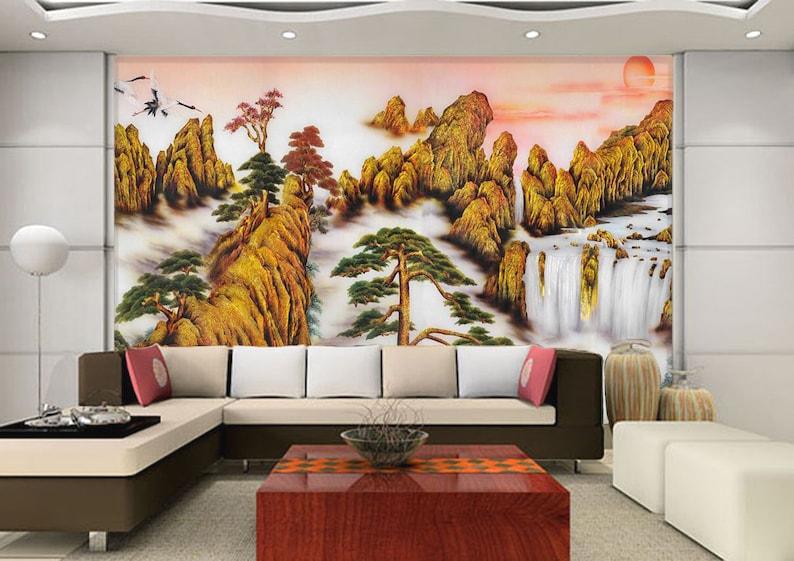 3D Mountain Snowy A800 Removable Wallpaper Self Adhesive Wallpaper Extra Large Peel /& Stick Wallpaper Wallpaper Mural AJ WALLPAPERSS