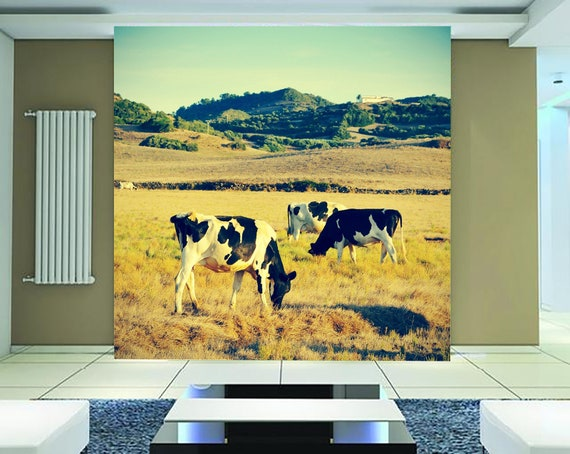 3D Grassland Wild Cows Nature756Removable Wallpaper Self Adhesive Wallpaper Extra Large Peel /& Stick Wallpaper Wallpaper Mural AJ WALLPAPERS