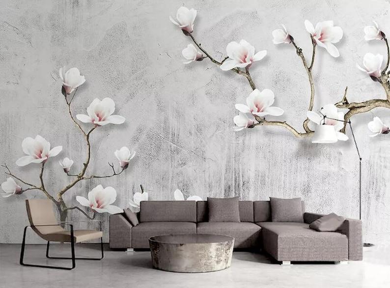 3D Pink Flowers E196 Removable Wallpaper Self Adhesive Wallpaper Extra Large Peel /& Stick Wallpaper Wallpaper Mural AJ WALLPAPERS