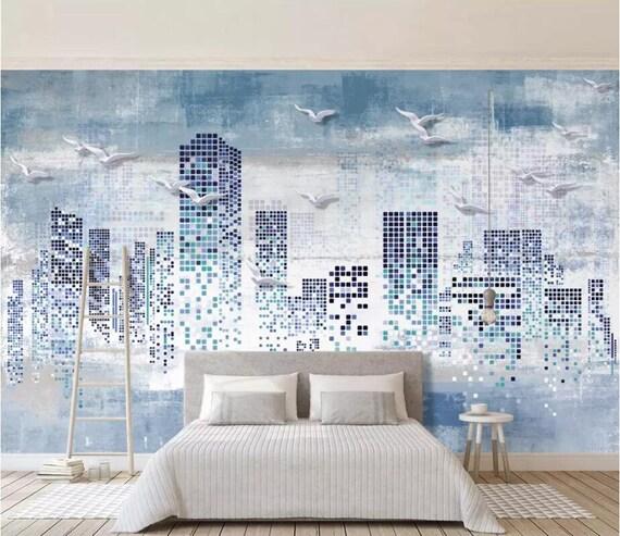 3D Urban Building A2419 Removable Wallpaper Self Adhesive Wallpaper Extra Large Peel /& Stick Wallpaper Wallpaper Mural AJ WALLPAPERS