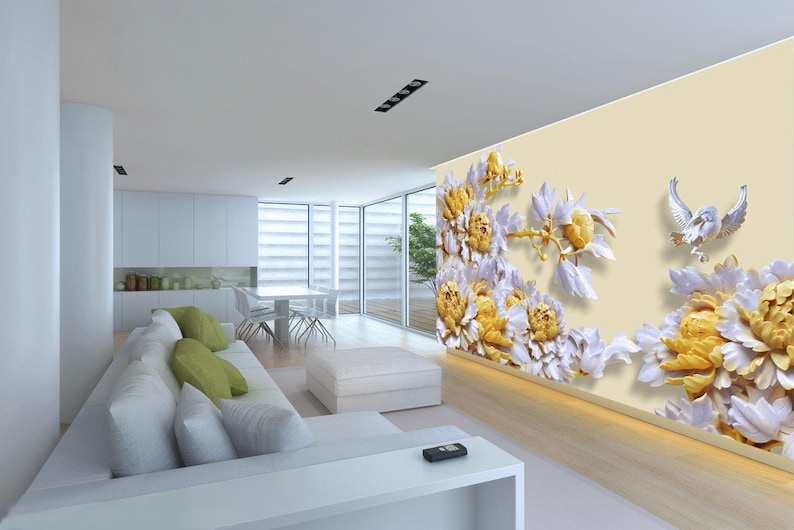 3D Flower A781 Removable Wallpaper Self Adhesive Wallpaper Extra Large Peel /& Stick Wallpaper Wallpaper Mural AJ WALLPAPERSS