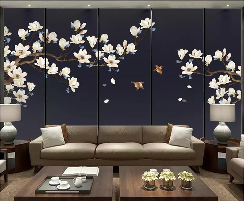 3D Flower A2405 Removable Wallpaper Self Adhesive Wallpaper Extra Large Peel /& Stick Wallpaper Wallpaper Mural AJ WALLPAPERS