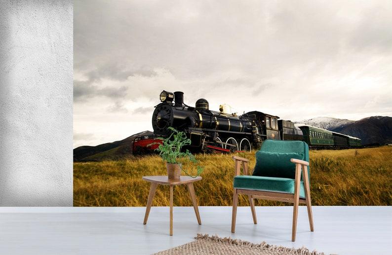3D Train A1634 Removable Wallpaper Self Adhesive Wallpaper Extra Large Peel /& Stick Wallpaper Wallpaper Mural AJ WALLPAPERS