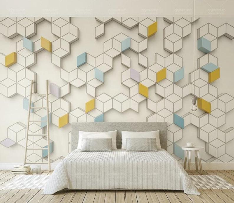 3D Interlace Lattice A1829 Removable Wallpaper Self Adhesive Wallpaper Extra Large Peel /& Stick Wallpaper Wallpaper Mural AJ WALLPAPERS