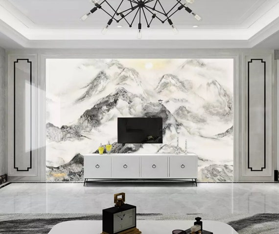 3D Mountain A2223 Removable Wallpaper Self Adhesive Wallpaper Extra Large Peel /& Stick Wallpaper Wallpaper Mural AJ WALLPAPERS