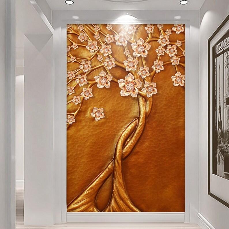 3D Tree D136 Removable Wallpaper Self Adhesive Wallpaper Extra Large Peel /& Stick Wallpaper Wallpaper Mural AJ WALLPAPERS
