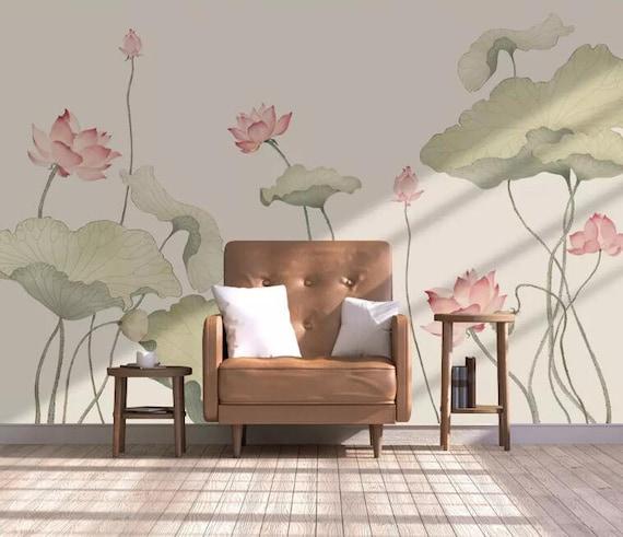 3D Lotus E176 Removable Wallpaper Self Adhesive Wallpaper Extra Large Peel /& Stick Wallpaper Wallpaper Mural AJ WALLPAPERS