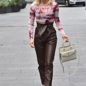 Vintage 100/% Leather Semplice Pants
