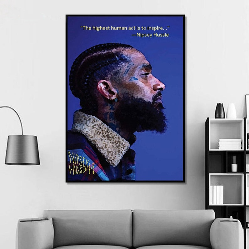Nipsey Hussle Victory Lap Hip Hop Star Rap Star Music Poster Wall Art  Painting Canvas Poster Home Decor Canvas Print (No frame)#5